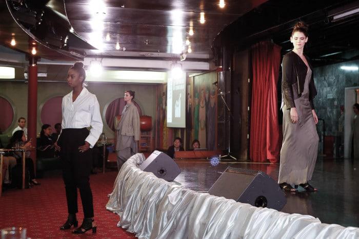 Left: Yerusalem Lockhart in Behno; Right, Ana Malesia in Titania Inglis. Photo credit: Brian Park