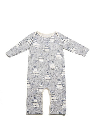 Natural dyes and organic cotton make this fit for a future captain.
