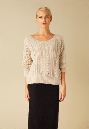 Ryan Roche cashmere sweater made by a women's coop in Nepal