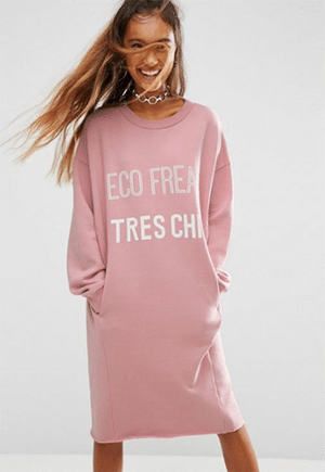 """Organic cotton with vegetable dye. The back says, """"There is no planet B."""""""