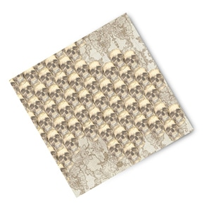 This 100% silk, fair trade, artisan made pocket square will bring out his bad ass side.