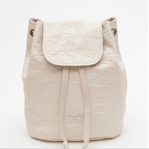 This backpack is made of pineapple leather!