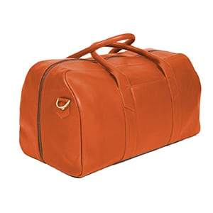 Cognac weekender by Issara // handmade by fairly paid artisans who have health insurance and a savings account