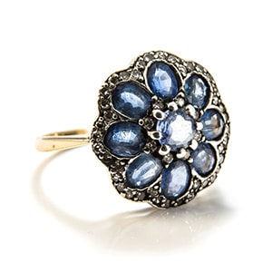 Pre-loved sapphire posey ring