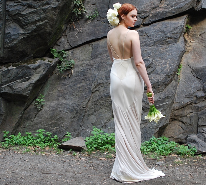 Custom Zero Waste Daniel gown, starting at $1,000