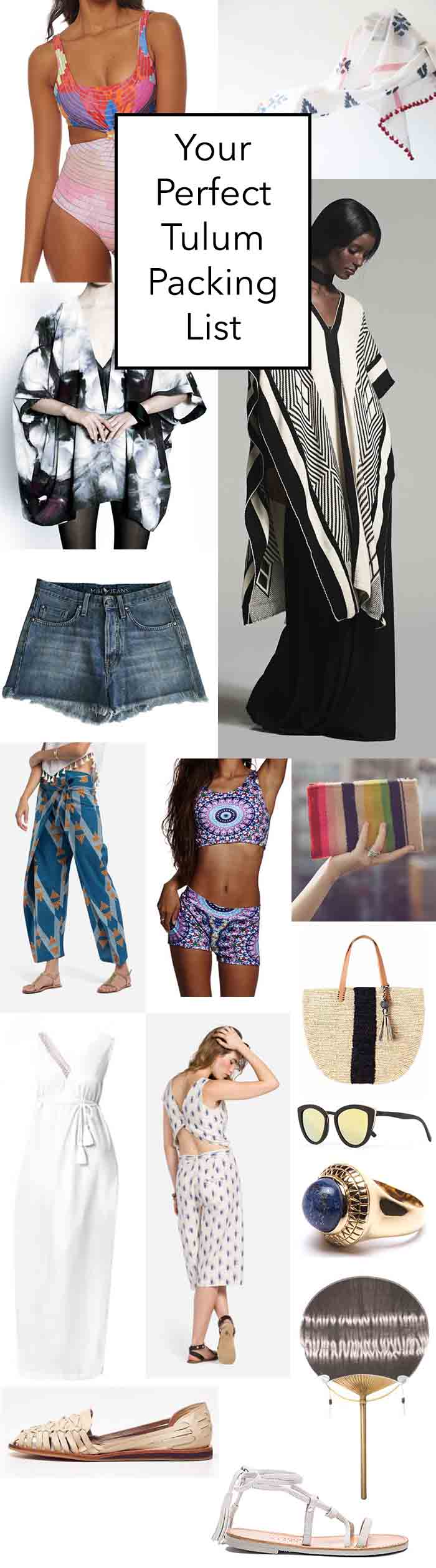 Ultimate Tulum Packing list // sustainable and ethical fashion