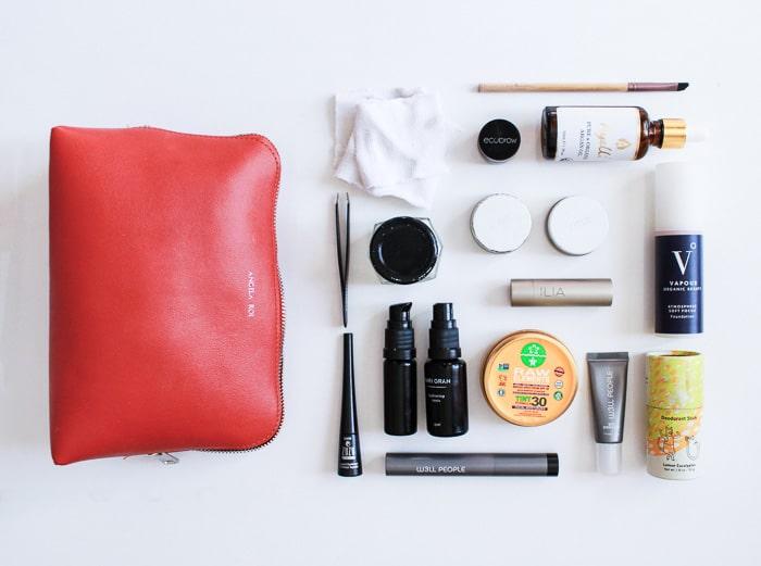 Clean beauty travel-sized non-toxic toiletries
