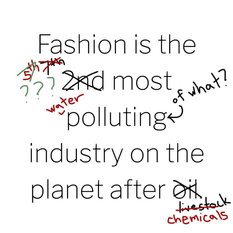 PLEASE Stop Saying Fashion is the 2nd Most Polluting