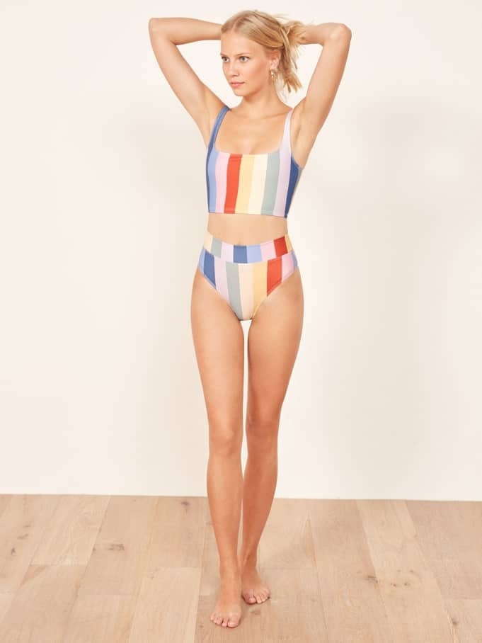 d9375814436a7 The sexy sustainable fashion brand from LA now has a swim collection as  well, made from recycled polyester.