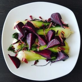 A Sustainable Cooking Recipe: Beet and Radish Greens