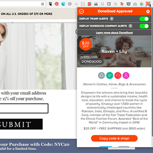 Ethical Shopping for Dummies: DoneGood's Browser Extension