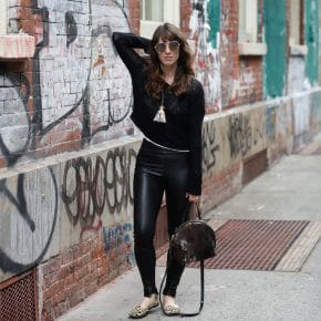 Review: Get French-Girl-in-New-York Style With Offtrack's Ethical Leather Leggings