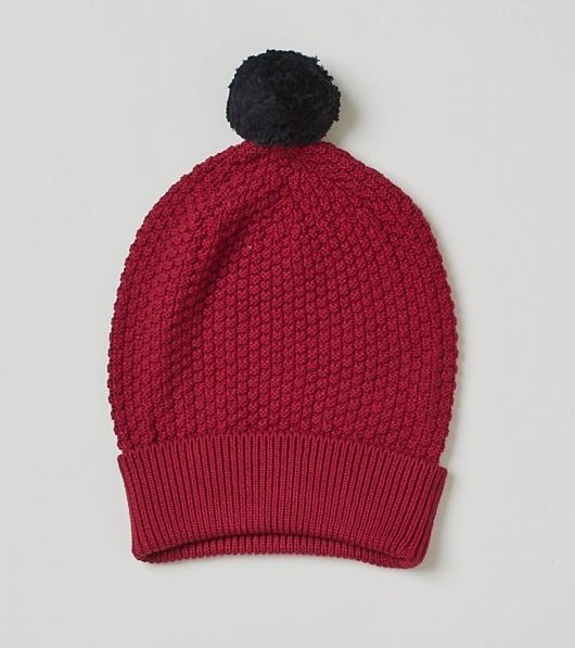 This Pom Pom Beanie from Thought is made out of organic cotton and wool. As  if your sis could GET any cuter! 15acaf4e3855