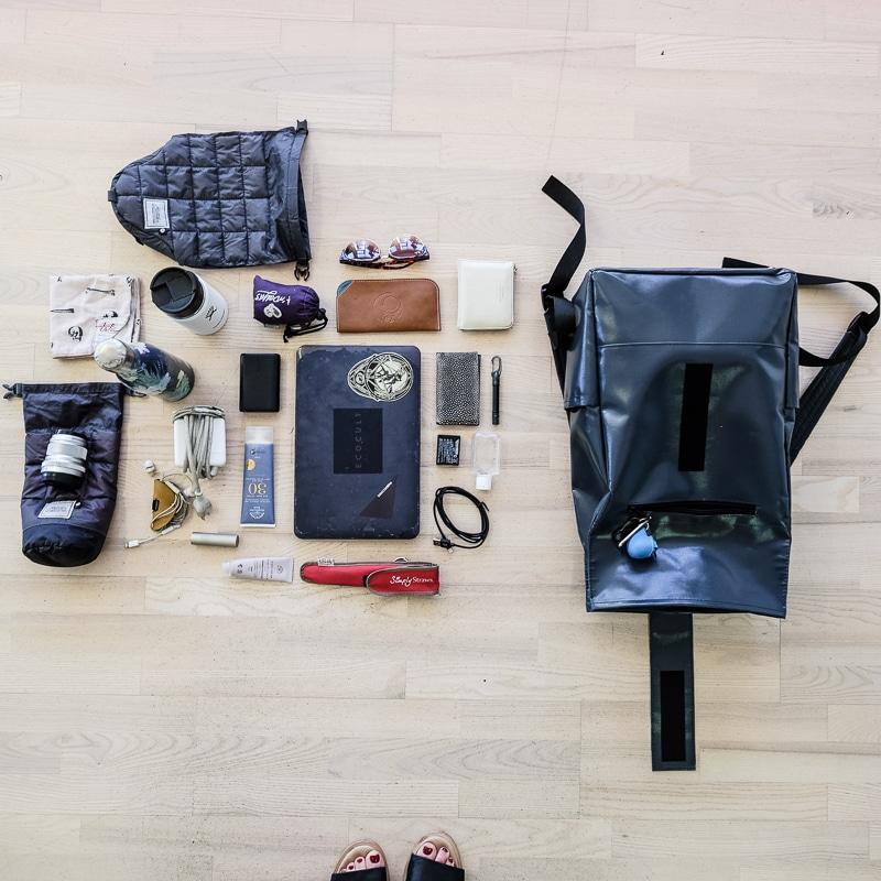 Zero waste backpack