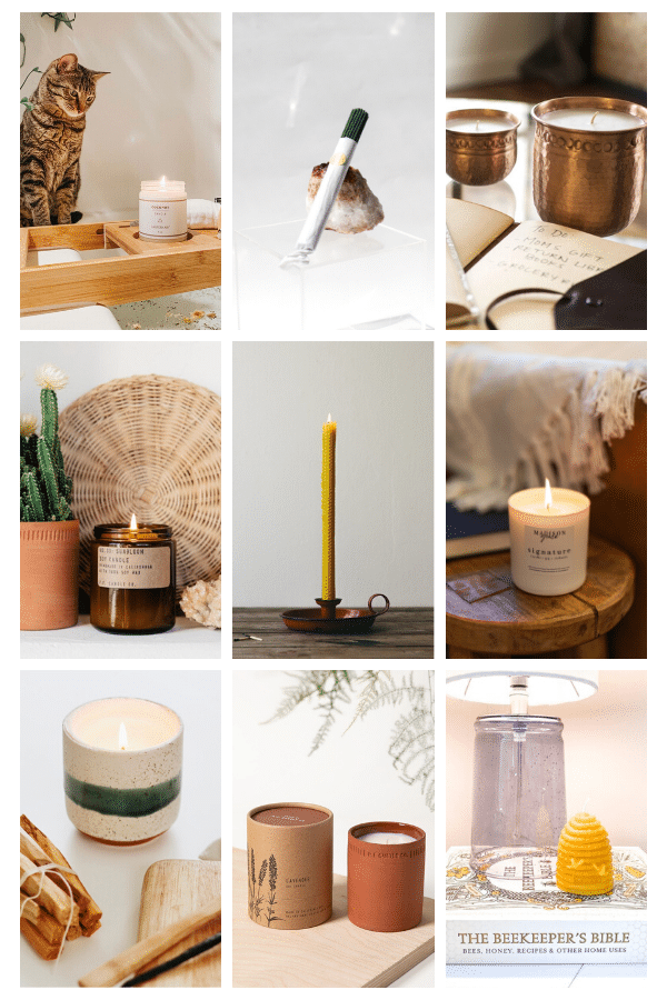 Natural and eco friendly candles